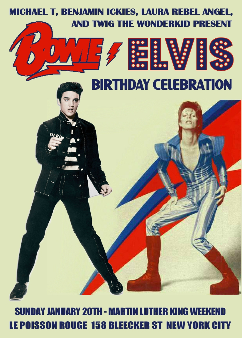 Birthday Wishes for Elvis andBowie